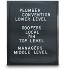 "Thermoformed Plastic Letterboard Panels 11"" x 14"""